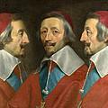 Triple Portrait Of Cardinal De Richelieu by Philippe de Champaigne