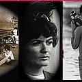 Triptych Jackie Sharkey Center Panel Cinco De Mayo Nogales Sonora 1969-2011 by David Lee Guss