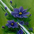 Floral Triptych 1 by Dawn Broom