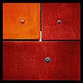 Triptych Purple Red Magenta - Colorful Rust by Menega Sabidussi