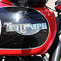 Triumph Motorcycle 5d28104 by Wingsdomain Art and Photography