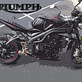 Triumph Motorcycle by George Pedro