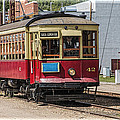 Trolley Car At The Fort Edmonton Park by Randall Nyhof