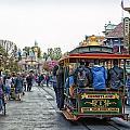 Trolley Car Main Street Disneyland 01 by Thomas Woolworth