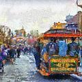 Trolley Car Main Street Disneyland Photo Art 02 by Thomas Woolworth