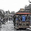 Trolley Car Main Street Disneyland Sc by Thomas Woolworth