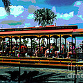 Trolley Stop by Judy Wolinsky