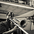 Trombone In New Orleans by David Morefield