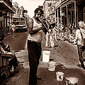 Trombone Man On Royal St. New Orleans by Kathleen K Parker