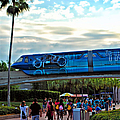 Tron Monorail At Walt Disney World by Thomas Woolworth