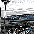 Tron Monorail Wdw In Sc by Thomas Woolworth