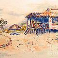Tropical  Beach Hut by Carolyn Jarvis