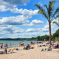 Tropical Beach In Port Dover by Barbara McMahon