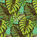 Tropical Leaves Pattern by Tom And Kwikki