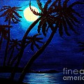 Tropical Moon On The Islands by Barbara Griffin