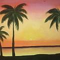 Tropical Sunset by Karen Pasquariello