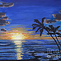 Tropical Sunset by Mary Benke