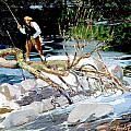Trout Fishing by George Benjamin Luks