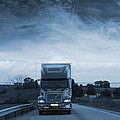 Trucking Late At Night by Christian Lagereek