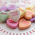 True Love Valentine Candy Hearts by Terry DeLuco