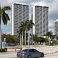 Trump Plaza In Downtown West Palm Beach Skyline by Bill Cobb