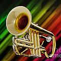 Trumpet Music Instrument Picture In Color 3224.02 by M K Miller
