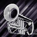 Trumpet Music Instrument Picture In Sepia 3224.01 by M K Miller