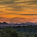 Tucson At Sunset by Wolfgang Hauerken