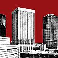 Tucson Skyline 1 - Dark Red by DB Artist