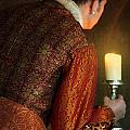 Tudor Man With Candle by Lee Avison