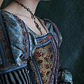 Tudor Woman In Profile by Lee Avison
