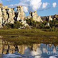 Tufa And Cloud Reflections by Adam Jewell