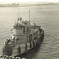 Tug Boat In Puerto Rico 1956 by Robert Floyd