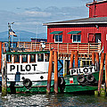Tug Boat Pilot Docked On Waterfront Art Prints by Valerie Garner