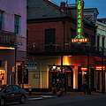 Tujagues At Night In New Orleans by Kathleen K Parker