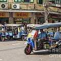 Tuk Tuk Taxis In Bangkok Thailand by Jacek Malipan