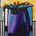 Tulipani T15- Oil On Canvas100x100 Cm by Saso  Petrosevski Novak - SPN