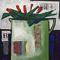 Tulipani T19 -oil On Canvas 100x100 Cm by Saso  Petrosevski Novak - SPN