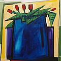 Tulipani T22 -oil On Canvas 100x100 Cm by Saso  Petrosevski Novak - SPN