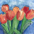 Tulips After The Rain by Maria Hunt
