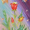 Tulips And Butterflies by Katerina Naumenko