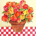 Tulips And Checks by Sherri Crabtree