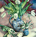 Tulips And Snowdrops by Julia Rowntree