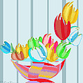 Tulips In A Bowl by Gail Cramer