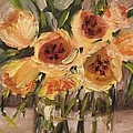 Tulips In Yellow By Alabama Artist Angela Sullivan by Angela Sullivan