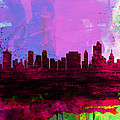 Tulsa Watercolor Skyline 2 by Naxart Studio