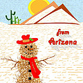 Arizona Tumbleweed Snowman by Methune Hively