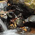 Tumbling Water In Big Crabtree Creek Norrth Carolina by Bruce Gourley