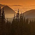Tumtum Peak At Sunset by Jeff Goulden