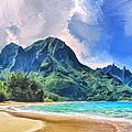 Tunnels Beach Kauai by Dominic Piperata
